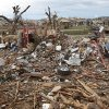 A neighborhood park is filled with debris on Tuesday, May 21, 2013 in Moore, Okla. that was left behind by Monday\'s tornado in the area near 4th and Bryant. Photo by Chris Landsberger, The Oklahoman