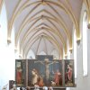 Photo - Visitors contemplate Matthias Grunewald's masterpiece, the Isenheim Altarpiece. (Photo by Cameron Hewitt)