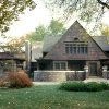 Photo -   This undated photo provided by the Frank Lloyd Wright Preservation Trust shows the exterior of the home side of the Frank Lloyd Wright Home and Studio in Oak Park, Ill., which was built in 1889 as Wright's family home and went through several renovations through 1898. This is where the famous architect developed Prairie style architecture. The home side of the building provided access to the family home. (AP Photo/Frank Lloyd Wright Preservation Trust/Don Kalec)