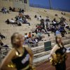 Crowd on the NWC side at the Northwest Classen vs. Western Heights high school football game at Taft Stadium Thursday, September 20, 2012. Photo by Doug Hoke, The Oklahoman