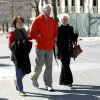 Michael Behenna walks with his mom Vicki and grandmother, Betty, following his release from prison Friday, March 14, 2014, in Leavenworth, Kan. Photo by Sarah Phipps, The Oklahoman
