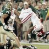 Oklahoma\'s Trey Franks (2) is upended after a long run and loses the ball during the college football game between the University of Oklahoma Sooners (OU) and the Baylor Bears (BU) at Floyd Casey Stadium on Saturday, Nov. 19, 2011, in Waco, Texas. Photo by Steve Sisney, The Oklahoman