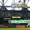 Photo - New York Mets starting pitcher Bartolo Colon throws against the Seattle Mariners in the seventh inning of a baseball game at Safeco Field, Wednesday, July 23, 2014, in Seattle. (AP Photo)
