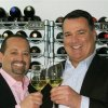 Photo - This April 15, 2012 publicity photo provided by World Wine Guys LLC shows Jeffrey Jenssen, right, and Michael DeSimone, World Wine Guys LLC, toasting with Craggy Range Chardonnay from New Zealand in New York. (AP Photo/World Wine Guys LLC, Geoffrey Michaels)