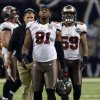 FILE - In this Dec. 16, 2012, file photo, Tampa Bay Buccaneers defensive end Da\'Quan Bowers (91) walks off the field during an NFL football game in New Orleans. Bowers was arrested at LaGuardia Airport in New York on Monday, Feb. 18, 2013, after police found a loaded handgun in his luggage, according to authorities. (AP Photo/Bill Feig, File)