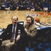 Bill Hancock with Tim Allen at the 1998 Final Four in San Antonio. PHOTO PROVIDED