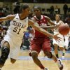 Texas A&M\'s Sydney Colson (51) steals the ball from OU\'s Aaryn Ellenberg (3) during the women\'s college basketball Big 12 Championship tournament game between the University of Oklahoma and Texas A&M in Kansas City, Mo., Friday, March 11, 2011. Photo by Bryan Terry, The Oklahoman