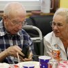 Wesley and wife Jayna Andrews have lunch during Homecoming Week at Full Circle Senior Adult Day Care in Norman, Oklahoma on Friday, May 30, 2008. BY STEVE SISNEY, THE OKLAHOMAN