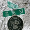 WINTER / COLD / WEATHER / ICE STORM: A street sign is covered with ice in Heritage Hills in Oklahoma City , Okla. Dec. 10, 2007. BY STEVE GOOCH, THE OKLAHOMA. ORG XMIT: KOD