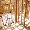Photo - Rooms are in the framing stage of a home under construction at 2612 NW 184. <strong>PAUL B. SOUTHERLAND - The Oklahoman</strong>