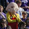 A Kansas State fan dressed up as the character \'Stewie\' during the second half of the college football game between the Oklahoma State University Cowboys (OSU) and the Kansas State University Wildcats (KSU) on Saturday, Oct. 30, 2010, in Manhattan, Kan. Photo by Chris Landsberger, The Oklahoman