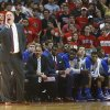 Photo - Kansas' Bill Self coaches from the bench during their NCAA college basketball game against Texas Tech in Lubbock, Texas, Tuesday, Feb, 18, 2014. (AP Photo/Lubbock Avalanche-Journal, Stephen Spillman)