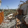 A bedroom is seen in Woodward, Okla., Sunday, April 15, 2012. A tornado that killed five people struck Woodward, Okla., shortly after midnight on Sunday, April 15, 2012. Photo by Bryan Terry, The Oklahoman