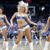 The Thunder Girls perform during game one of the Western Conference semifinals between the Memphis Grizzlies and the Oklahoma City Thunder in the NBA basketball playoffs at Oklahoma City Arena in Oklahoma City, Sunday, May 1, 2011. Photo by Chris Landsberger, The Oklahoman