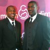 OU\'s Ryan Broyles (left) and OSU\'s Justin Blackmon (right) pose prior to the March of Dimes Sports Headliner Banquet 2011 at the Skirvin Hilton in Oklahoma City on Monday, April 18, 2011. Photo by John Clanton, The Oklahoman ORG XMIT: KOD