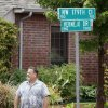 Frank Kuczinski stands in water outside his house in the Palo Verde addition in north Oklahoma City, OK, after flood waters inundated a number of homes in the area, Monday, June 14, 2010. By Paul Hellstern, The Oklahoman