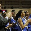 Photo - Kentucky coach Matthew Mitchell, left, sings the fight song with his team after they defeated Alabama 85-63 in a women's NCAA basketball game on Thursday, Jan. 2, 2014, in Tuscaloosa, Ala. (AP Photo/Butch Dill)
