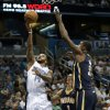 Orlando Magic\'s Jameer Nelson (14) gets around Indiana Pacers\' George Hill (3) and Roy Hibbert, right, for a shot during the first half of an NBA basketball game, Wednesday, Jan. 16, 2013, in Orlando, Fla. (AP Photo/John Raoux)
