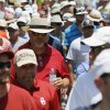 Spectators walk between No. 4 and No. 5 during the final round of the U.S. Senior Open golf tournament at Oak Tree National in Edmond, Okla., Sunday, July 13, 2014. Photo by Nate Billings, The Oklahoman
