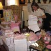 SUGAR AND SPICE....Most of the baby presents were wrapped in pink. (Photo by Helen Ford Wallace).