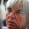 Photo -   Formula One chief Bernie Ecclestone talks to reporters following a photo call for his 82nd birthday at the Indian Formula One Grand Prix at the Buddh International Circuit in Noida, on the outskirts of New Delhi, India, Sunday, Oct. 28, 2012. (AP Photo/Manish Swarup)