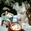 COCOA: Hot chocolate sits in the snow at The Oklahoman in Oklahoma City, Friday, Dec . 1, 2006. By John Clanton, The Oklahoman ORG XMIT: KOD