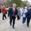 Photo -   U.S. Rep. Tim Griffin, R-Ark., center, walks past voters after arriving at his poling place in Little Rock, Ark., Tuesday, Nov. 6, 2012. Griffin is being challenged by Democrat Herb Rule in the general election. (AP Photo/Danny Johnston)