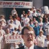 Dan Brown, chairman of STOP New Taxes, spoke at an anti-tax rally July 16, 1990, on the south steps of the state Capitol. [Photo by Jim Beckel, The Oklahoman Archives]