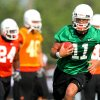 Quarterback Zac Robinson runs upfield during a play during the first Oklahoma State University fall football practice, in Stillwater, Okla., Thursday, July 31, 2008. BY MATT STRASEN, THE OKLAHOMAN