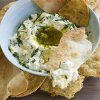 Photo - In this image taken on December 3, 2012, buttermilk ricotta cheese dip with homemade crackers is shown in a serving dish in Concord, N.H. (AP Photo/Matthew Mead)