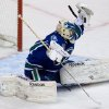Vancouver Canucks\' goalie Roberto Luongo makes a glove save against the Chicago Blackhawks during the second period of an NHL hockey game in Vancouver, British Columbia, on Friday, Feb. 1, 2013. (AP Photo/The Canadian Press, Darryl Dyck)