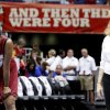 OU\'s Amanda Thompson, left, and coach Sherri Coale watch during practice before the Final Four of the NCAA women\'s basketball tournament in San Antonio, Texas., on Saturday, April 3, 2010. The University of Oklahoma will play Stanford on Sunday, April 4, 2010. Photo by Bryan Terry, The Oklahoman
