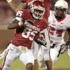 Oklahoma Sooners\' Ryan Broyles (85)scores during the second half of the college football game in which the University of Oklahoma Sooners (OU) defeated the Ball State Cardinals 62-6 at Gaylord Family-Oklahoma Memorial Stadium on Saturday, Oct. 1, 2011, in Norman, Okla. Photo by Steve Sisney, The Oklahoman