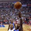 Oklahoma City Thunder forward Kevin Durant, right, puts up a shot as Los Angeles Clippers forward Caron Butler defends during the first half of their NBA basketball game, Tuesday, Jan. 22, 2013, in Los Angeles. (AP Photo/Mark J. Terrill)