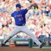 New York Mets\' Jeremy Hefner pitches in the first inning of a baseball game against the Philadelphia Phillies, Friday, June 21, 2013, in Philadelphia. (AP Photo/Matt Slocum)