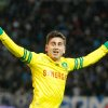 Photo - Nantes' American midfielder Alejandro Bedoya, celebrates after scoring against Marseille, during their League One soccer match, at the Velodrome Stadium, in Marseille, southern France, Friday, Dec. 6, 2013. (AP Photo/Claude Paris)
