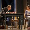 """Photo - This undated publicity photo provided by Boneau/Bryan-Brown shows Nobert Leo Butz as Jack, left, and Katie Holmes as Lorna, in a scene from """"Dead Accounts,"""" by Theresa Rebeck, at Broadway's Music Box theatre in New York. (AP Photo/Boneau/Bryan-Brown, Joan Marcus)"""