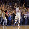 Oklahoma City\'s Kevin Durant (35) celebrates a three-point shot during the NBA basketball game between the Miami Heat and the Oklahoma City Thunder at Chesapeake Energy Arena in Oklahoma City, Sunday, March 25, 2012. Photo by Sarah Phipps The Oklahoman