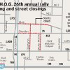 Photo - Club H.O.G. 26th annual rally parking and street closings MAP / GRAPHIC