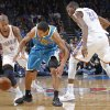 Oklahoma City Thunder\'s Eric Maynor (6) and Kevin Durant (35) defend New Orleans Hornets\' Brian Roberts (22) during the NBA basketball game between the Oklahoma CIty Thunder and the New Orleans Hornets at the Chesapeake Energy Arena on Wednesday, Dec. 12, 2012, in Oklahoma City, Okla. Photo by Chris Landsberger, The Oklahoman