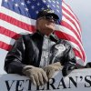 Jim Pratt rides on the Veterans of Foreign Wars float during the \'89er Day Parade on Saturday, April 20, 2013 in Norman, Okla. Photo by Steve Sisney, The Oklahoman