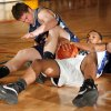 Southeast high school\'s Trai Jordan (right) fights for a loose ball with John Moellers of Cascia Hall in Class 4A boys state tournament basketball at Moore High School on Thursday, March 6, 2008 in Moore, Oklahoma. BY STEVE SISNEY, THE OKLAHOMAN