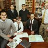 These Herbert W. Armstrong College students, who went on archeological dig in Israel, pose for a photo at the college in Edmond, OK, Monday, Dec. 15, 2008. Seated in center are Brandon Nice (left) and Edwin Trebels, and standing are Victor Vejil, John Rambo, Jeremy Cocomise, and Brent Nagtegaal. BY PAUL HELLSTERN, THE OKLAHOMAN ORG XMIT: KOD