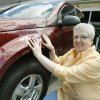 Mary Dubois picked up her new Chevy Equinox with the cash for clunkers deal in Midwest City, OK, Tuesday, July 21, 2009. By Paul Hellstern, The Oklahoman