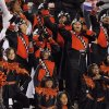 The Douglass band entertains the crowd during the Class 4A high school football state championship game between Star Spencer and Douglass at Boone Pickens Stadium in Stillwater, Okla., Saturday, December 5, 2009. Photo by Nate Billings, The Oklahoman
