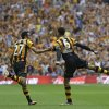 Photo - Hull City's Curtis Davies, right, celebrates with Ahmed El mohamady after he scored his sides second goal during the English FA Cup final soccer match between Arsenal and Hull City at Wembley Stadium in London, Saturday, May 17, 2014. (AP Photo/Kirsty Wigglesworth)