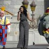 Singer Jordin Sparks, center, performs during the grand opening ceremony for the New Fantasyland attraction at the Walt Disney World Resort\'s Magic Kingdom theme park in Lake Buena Vista, Fla., Thursday, Dec. 6, 2012. The new attraction is the largest expansion at the Magic Kingdom.(AP Photo/Phelan M. Ebenhack)