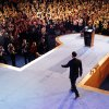 Republican presidential candidate former Massachusetts Gov. Mitt Romney arrives to speak at his campaign election night event at the Boston Convention & Exhibition Center Wednesday, Nov. 7, 2012, in Boston, after being defeated by President Barack Obama. (AP Photo/Rick Wilking, Pool)