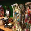 FILE - In this Feb. 13, 2013 file photo, statues of La Santa Muerte are shown at the Masks y Mas art store in Albuquerque, N.M. The Vatican\'s culture minister said in Mexico City on Wednesday, May 8, 2013 that Mexico\'s folk Death Saint is a blasphemous symbol that shouldn\'t be part of any religion. La Santa Muerte is worshipped both by drug dealers in Mexico and by the terrified people who live in drug-torn neighborhoods. (AP Photo/Russell Contreras, File)