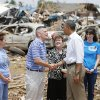 President Barack Obama greets tornado victims at Plaza Towers Elementary in Moore, Okla., on Sunday, May 25, 2013. Photo by Bryan Terry The Oklahoman